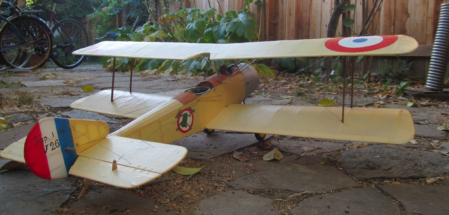 Sopwith 1/2 Strutter - 42 inch electric scale