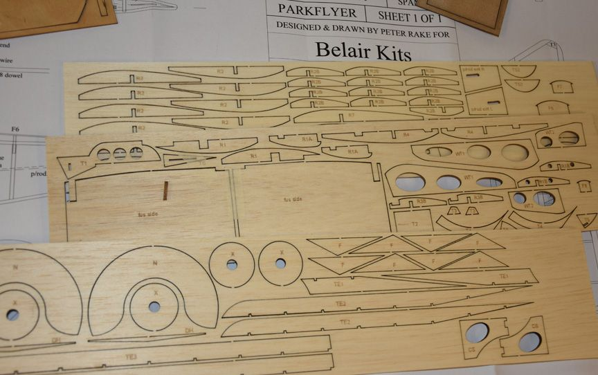 Fokker DVIII - electric Parts Set and plan