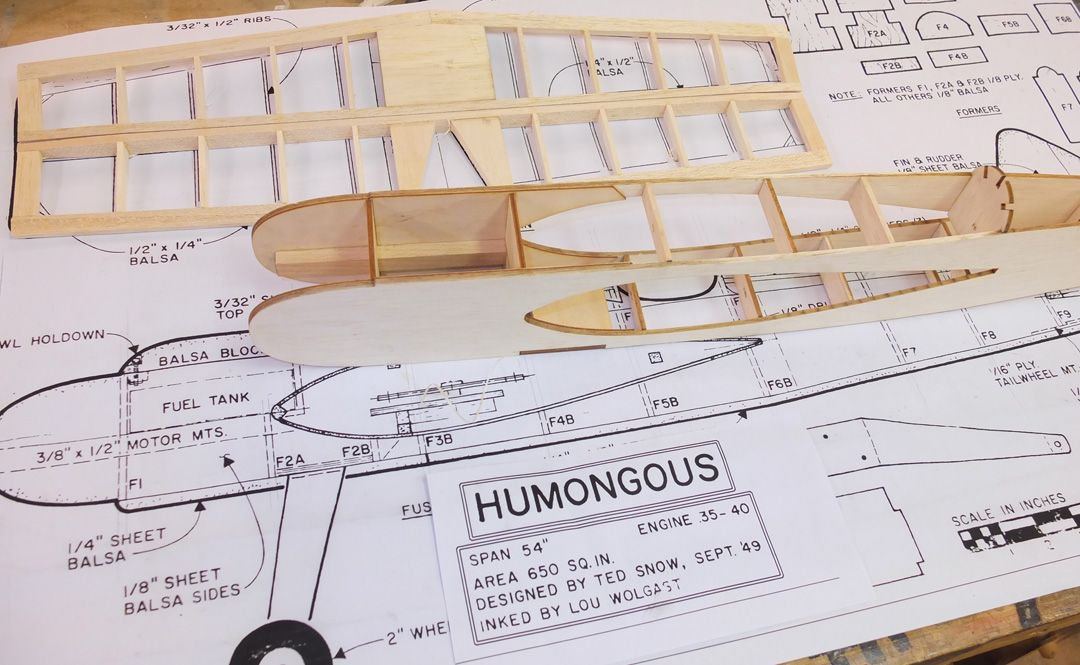 Humongous CL Stunt - Parts Set and plan