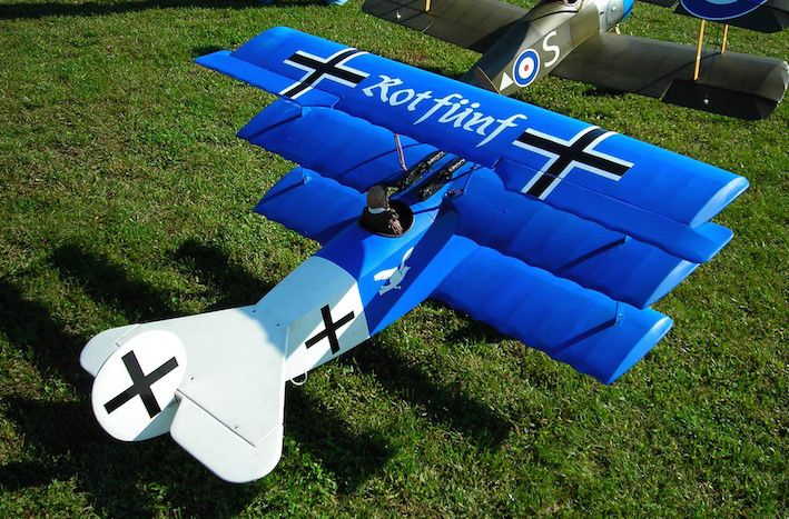 Fokker Dr-1 Triplane 1:4.4 scale - Parts Set