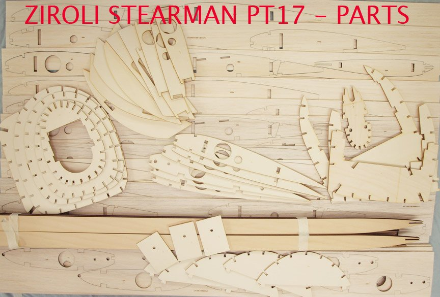 PT17 Stearman 87inch and 78 inch - Parts Set - Ziroli