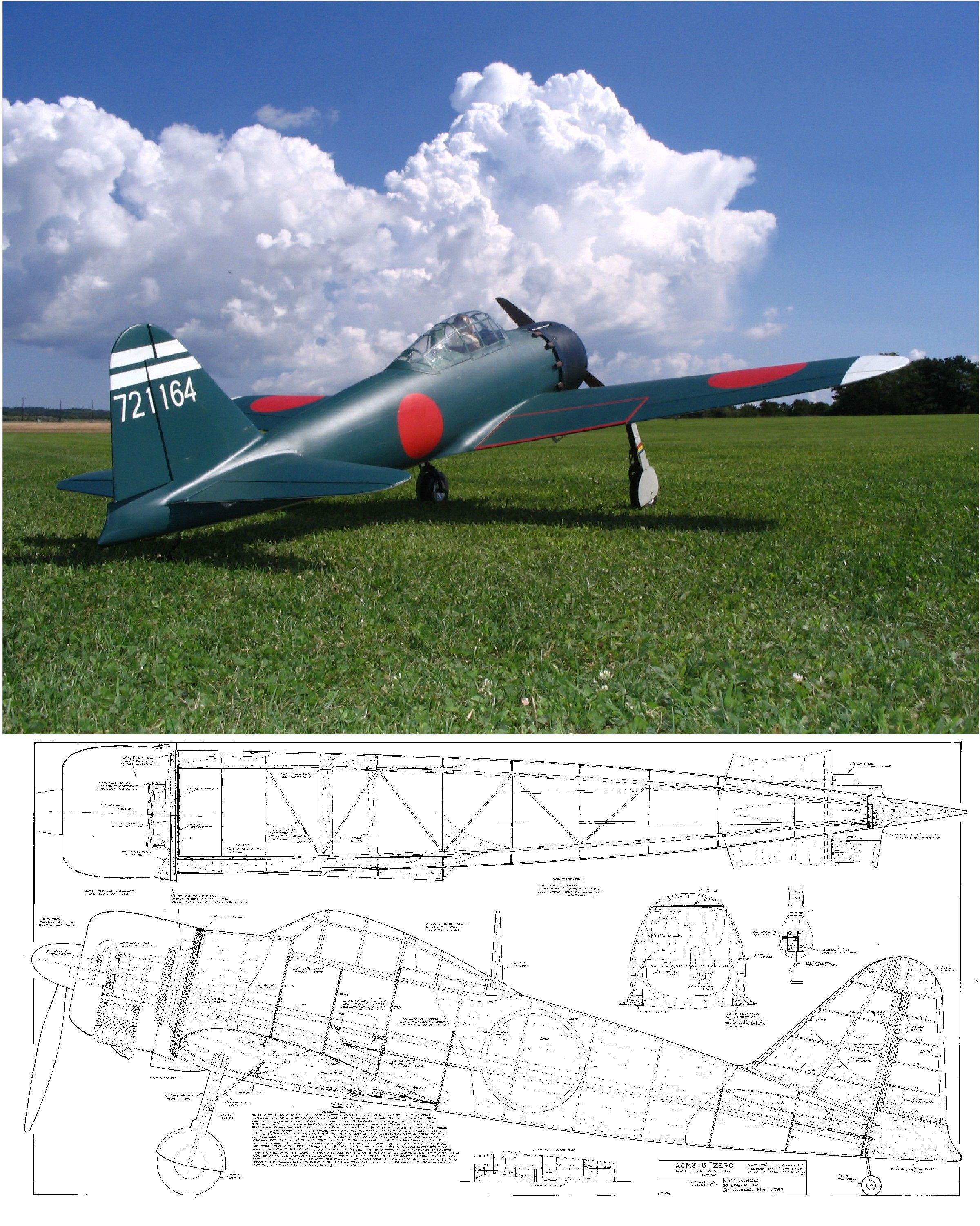 A6M5 Zero Plan for Ziroli